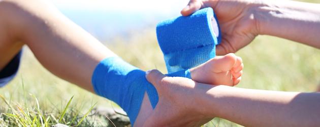 bandage pour blessure au pied