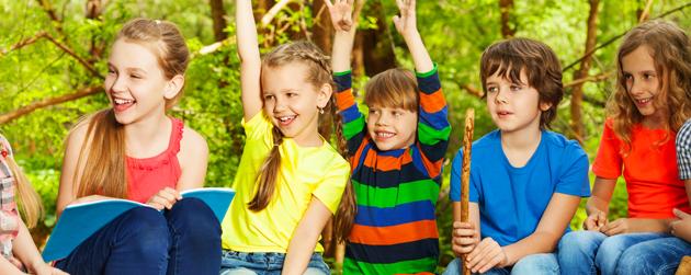 enfants au camp de jour