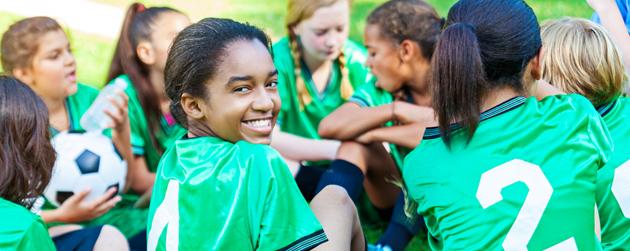 équipe de soccer multiethnique