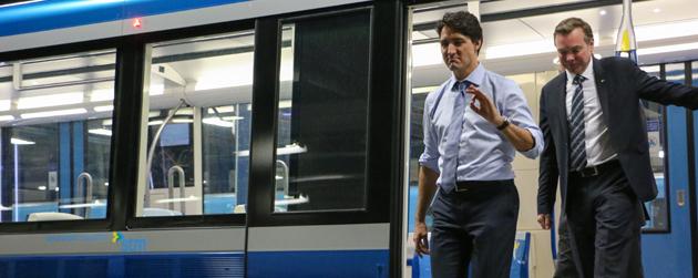Justin Trudeau métro de Montréal